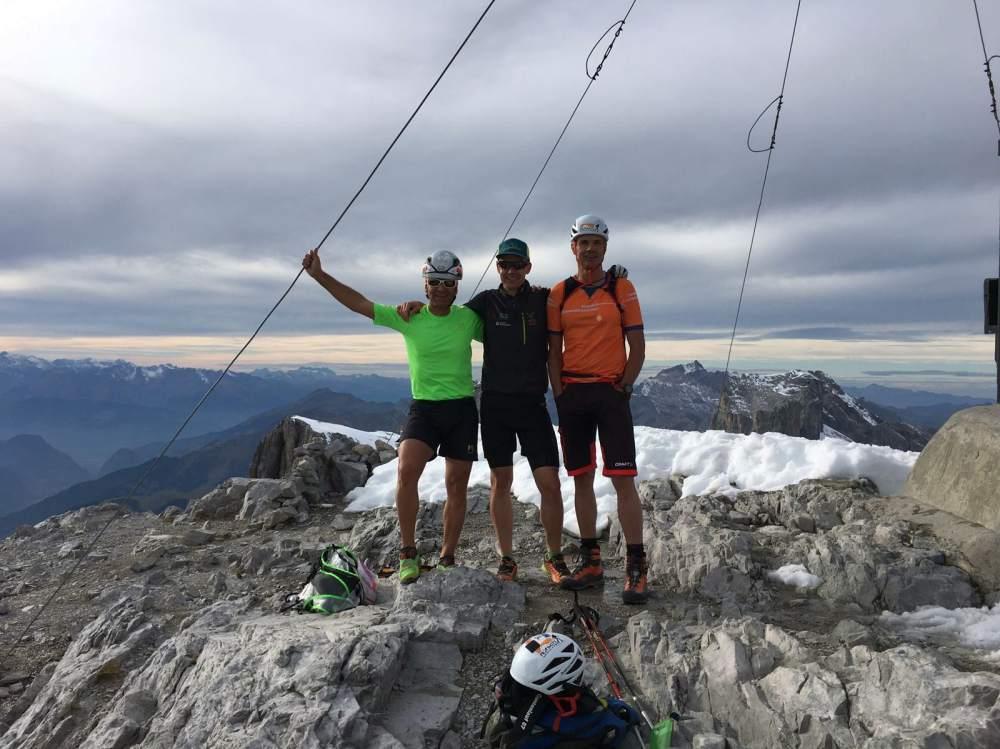 Klettersteig Sulzfluh : Teamtraining klettersteig sulzfluh flütsch skitouring küblis